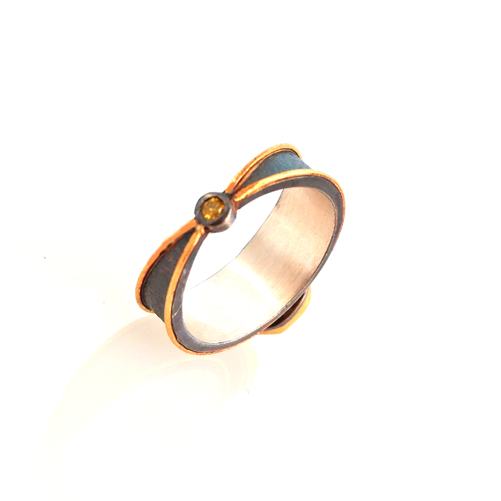yellow diamond natural diamond rustic ring